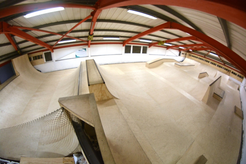 Byc skatepark brighton youth centre for Indoor skatepark design uk